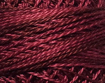 Valdani Thread, Size 8, O507, Valdani Perle Cotton, Rich Wine, Punch Needle, Embroidery, Penny Rugs, Primitive Stitching, Sewing Accessory