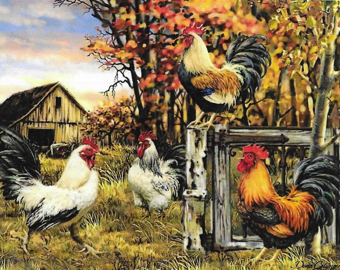 Featured listing image: Counted Cross Stitch Pattern, Rooster Farm, Country Farm, Barnyard Rooster, Dona Gelsinger, Heaven and Earth Designs, PATTERN ONLY