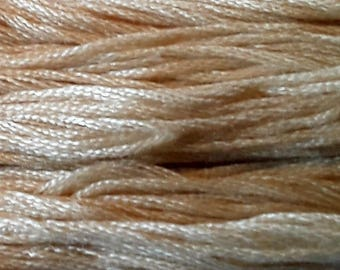 Classic Colorworks, Eggshell, CCT-224, 5 YARD Skein, Hand Dyed Cotton, Embroidery Floss, Counted Cross Stitch, Hand Embroidery Thread