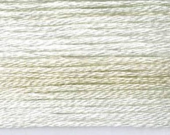 Cosmo, 6 Strand Cotton Floss, SE80-8002,  Seasons Variegated Embroidery Thread, White/Pale Beige, Punch Needle, Embroidery, Sewing Accessory