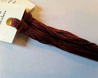 Classic Colorworks, German Chocolate, 5 YARD Skein, Hand Dyed Cotton, Embroidery Floss, Counted Cross Stitch, Hand Embroidery Thread