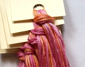 Classic Colorworks, Orangena, CCT-106, 5 YARD Skein, Hand Dyed Cotton, Embroidery Floss, Cross Stitch, Hand Embroidery Thread