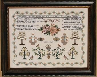 Cross Stitch Pattern, Rosina Payne 1834, Cross Stitch Sampler, Antique Reproduction, Inspirational, Queenstown Sampler Designs, PATTERN ONLY