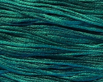 Weeks Dye Works, Islamorada, WDW-2142, 5 YARD Skein, Hand Dyed Cotton, Embroidery Floss, Counted Cross Stitch, Embroidery, Over Dyed Cotton