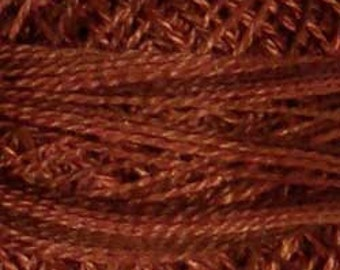 Valdani Thread, Size 12, O513, Perle Cotton, Coffee Roast, Punch Needle, Embroidery, Penny Rugs, Primitive Stitching, Sewing Accessory