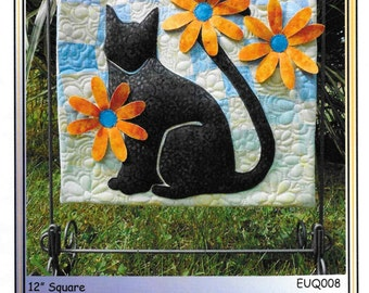 Quilt Pattern, Miss Daisy, Black Cat Applique, Applique Quilt, Summer Quilt, Quilts, Erin Underwood Quilts, PATTERN ONLY