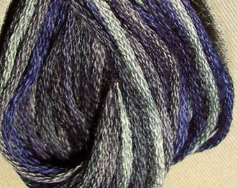 Valdani, 6 Strand Cotton Floss, P7, Withered Blue, Embroidery Floss, Variegated Floss, Hand Dyed Floss, Wool Applique, Punch Needle