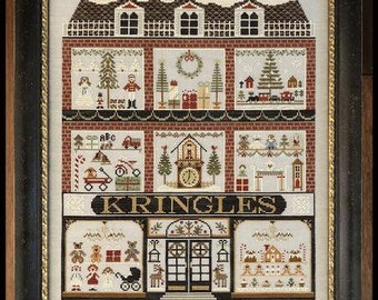 Counted Cross Stitch Pattern, Kringles, Christmas Decor, Christmas Toys, Christmas Trees, Teddy Bear, Little House Needleworks, PATTERN ONLY
