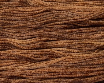 Gentle Art, Simply Shaker Threads, Cidermill Brown, #7007, 10 YARD Skein, Embroidery Floss, Counted Cross Stitch, Penny Rugs
