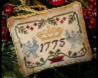 Counted Cross Stitch Pattern, Three Crowns, Christmas Ornament, Sampler Tree, Christmas Decor, Little House Needleworks, PATTERN ONLY