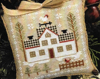 Counted Cross Stitch Pattern, Cock-a-Doodle-Do, Farmhouse Christmas, Cross Stitch Pillow, Ornament, Little House Needleworks, PATTERN ONLY