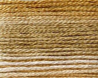 Cosmo, 6 Strand Cotton Floss, SE80-8032,  Seasons Variegated Embroidery Thread, Browns, Punch Needle, Embroidery, Sewing Accessory