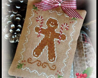 Counted Cross Stitch Pattern, Gingerbread Cookie, Christmas Ornament, Gingerbread Ornament, Ornament, Little House Needleworks, PATTERN ONLY