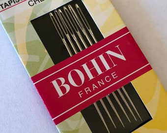 Embroidery Needles, Chenille Needles, Bohin, #20 Chenille Needles, Crewel Embroidery, Hand Stitchery, Heirloom Embroidery, Fine Point Needle