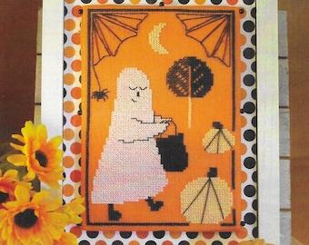 Counted Cross Stitch Pattern, Ghostie Goodies, Pumpkins, Spider, Halloween Decor, Ghost, Spider Webs, Luhu Stitches, PATTERN ONLY