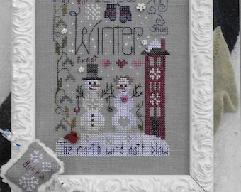 Counted Cross Stitch Pattern, Winter Notes, Wintertime, Winter Decor, Cross Stitch, Cross Stitch Ornaments, Shepherd's Bush, PATTERN ONLY