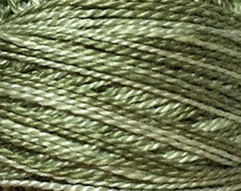 Valdani Thread, Size 8, O579, Perle Cotton, Faded Olive, Embroidery Thread, Needlework, Sewing Accessory, Pearl Cotton, Penny Rugs