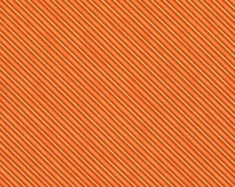 Quilt Fabric, Haunted Night, Orange Diagonal Stripes, Halloween Fabric, Quilt Fabric, Halloween Decor, Danielle Leon, Wilmington Prints