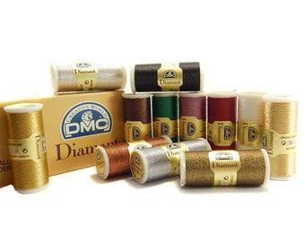 DMC Diamant Metallic Thread, Metallic Thread, Embroidery Thread, Cross Stitch, Hand Embroidery Thread, DMC Metallic Thread, Metallic