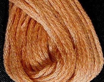 Valdani, 6 Strand Cotton Floss, 861, Faded Rust Light, Embroidery Floss, Variegated Floss, Hand Dyed Floss, Wool Applique, Punch Needle