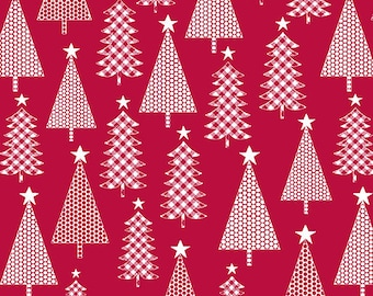 Quilt Fabric, Joy, Jolly Trees, Red, Christmas Fabric, Holiday, Benartex, Contempo, Cherry Blossom Quilting, Cherry Guidry