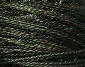 Valdani 3 Strand, H209, Khaki Black, Cotton Floss, Cross Stitch Floss, Punch Needle, Embroidery, Penny Rugs, Wool Applique, Cross Stitch