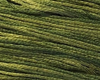 Weeks Dye Works, Ivy, WDW-2198, 5 YARD Skein, Hand Dyed Cotton, Embroidery Floss, Counted Cross Stitch, Embroidery, Over Dyed Cotton