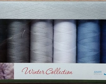 Mettler Thread, Winter Collection, Silk Finish Cotton, Thread Set, Embroidery Thread, Sewing Thread, Quilting Thread, Hand Sewing Thread