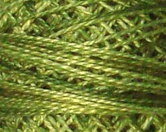 Valdani Thread, Size 8, O519, Perle Cotton, Green Olives, Punch Needle, Embroidery, Penny Rugs, Primitive Stitching, Sewing Accessory