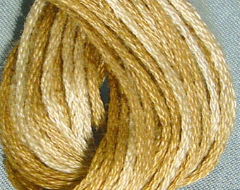 Valdani, 6 Strand Cotton Floss, H205, Ancient Gold, Embroidery Floss , Punch Needle, Embroidery, Penny Rugs, Sewing Accessory