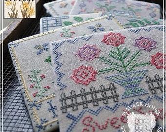 Counted Cross Stitch, Ladies Garden Journal, Flower Garden, Gardening Journal Series, Floral, Summer House Stitche Workes, PATTERN ONLY