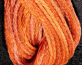 Valdani, 6 Strand Cotton Floss, P6, Rusted Orange, Embroidery Floss, Punch Needle, Embroidery, Penny Rugs, Sewing Accessory