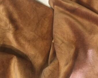 Velveteen, Potato, Brown Velveteen, Hand Dyed Velveteen, Cotton Velveteen, Finishing Fabric, Velveteen Fabric, Lady Dot Creates