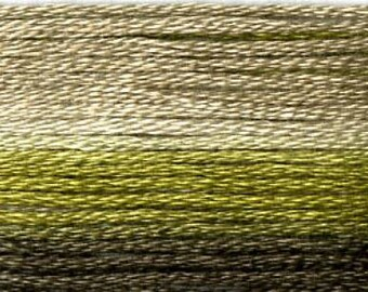 Cosmo, 6 Strand Cotton Floss, SE80-8017, Seasons Variegated Embroidery Thread, Dark Greens, Wool Applique, Cross Stitch, Embroidery