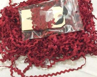 Rick Rack Trim, Sizzle, Lady Dot Creates, Hand Dyed Rick Rack, Cotton Rick Rack Trim, Sewing Notion, Sewing Accessory, Sewing Trim