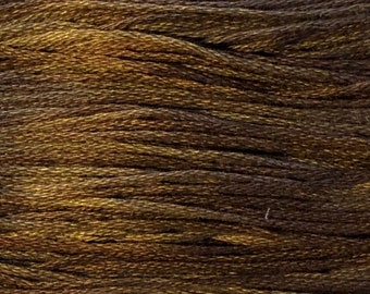 Weeks Dye Works, Mocha, WDW-1236, 5 YARD Skein, Cotton Floss, Embroidery Floss, Counted Cross Stitch, Hand Embroidery, PunchNeedle