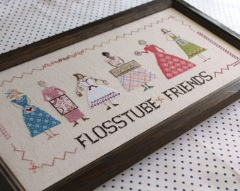 Counted Cross Stitch Pattern, Flosstube Friends, Whimsical Design, YouTube Friends, October House Fiber Arts, PATTERN ONLY