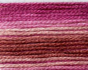 Cosmo, 6 Strand Cotton Floss, SE80-8061,  Seasons Variegated Embroidery Thread, Punch Needle, Embroidery, Sewing Accessory