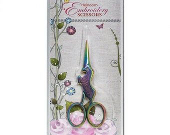 Embroidery Scissors, Rainbow Unicorn, Unicorn Scissors, Heirloom Embroidery, Needlework, Cross Stitch, Sewing Accessory, Embroidery