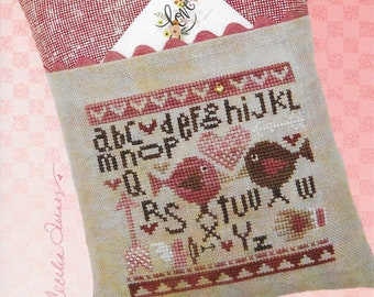 Counted Cross Stitch Pattern, Bird in the Hand, Valentine's Day, Love Birds, Cupid, Heart Charm, Valentine, Heart in Hand, PATTERN ONLY