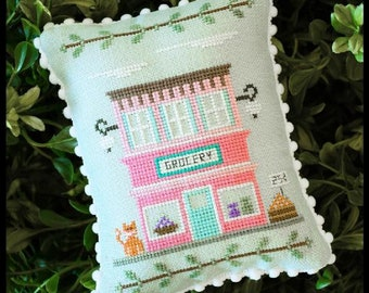 Counted Cross Stitch, Main Street Grocery, Cottage Decor, Main Street Series #8, Country Cottage Needleworks, PATTERN ONLY