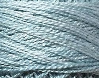 Valdani Thread, Size 12, O558, Blue Suave, Perle Cotton, Embroidery Thread, Punch Needle, Embroidery, Penny Rugs, Sewing Accessory