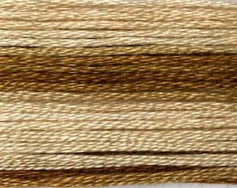 Cosmo, 6 Strand Cotton Floss, SE80-8036, Seasons Variegated Embroidery Thread, Brown, Wool Applique, Cross Stitch, Embroidery, Punch Needle