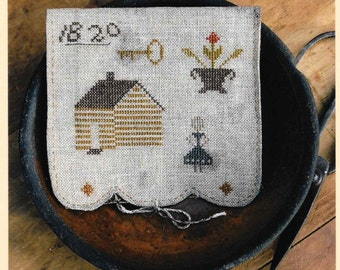 Counted Cross Stitch Pattern, Olde Homestead, Sewing Book, Colonial Style Needlework, Primitive Cross Stitch, Stacy Nash, PATTERN ONLY