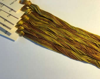 Classic Colorworks, Old Oak Tree, CCT-145, 5 YARD Skein, Hand Dyed Cotton, Embroidery Floss, Counted Cross Stitch, Embroidery Thread