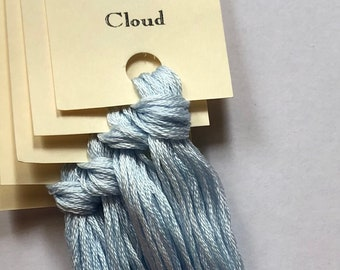 Classic Colorworks, Cloud, CCT-010, 5 YARD Skein, Hand Dyed Cotton, Embroidery Floss, Counted Cross Stitch, Embroidery Thread