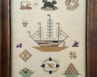 Counted Cross Stitch Pattern, Bristol Ship Spot Sampler, George Muller Trust, Orphan House, Bristol, Dutch Treat Designs, PATTERN ONLY