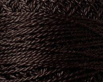 Valdani Thread, Size 12, 173, Rich Brown Dark, Valdani Perle Cotton, Embroidery Thread, Pinks, Punch Needle, Embroidery, Sewing Accessory