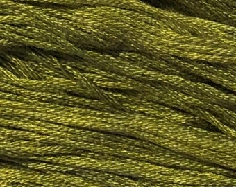 Gentle Art, Simply Shaker Threads, Chives, #7074, 10 YARD Skein, Embroidery Floss, Counted Cross Stitch, Hand Embroidery Thread
