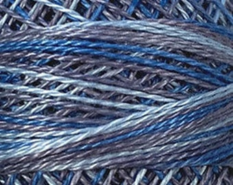 Valdani Thread, Size 8, M68, Blue Clouds, Perle Cotton, Punch Needle, Embroidery, Penny Rugs, Primitive Stitching, Sewing Accessory